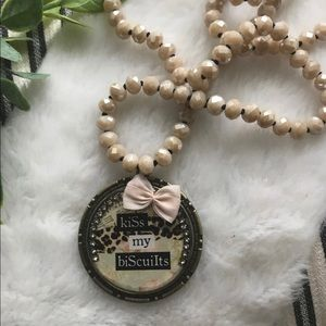 Southern Pendant & Beaded Necklace